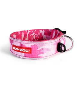 EzyDog brede neo halsband, pink camo