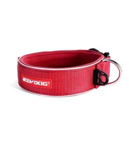 EzyDog brede neo halsband, rood