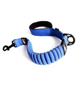 "EzyDog Zero Shock elastische hondenriem 25""64cm, blauw"