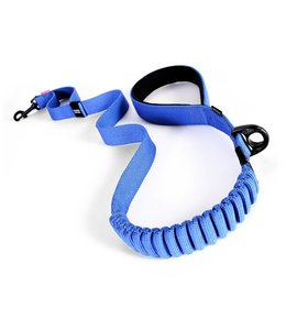 "EzyDog Zero Shock elastische hondenriem 48"" 120cm, blauw"