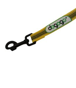 Dogogo Antislip leash with loop in diff. lengths and widths, yellow
