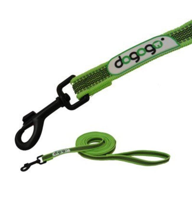 Dogogo Dogogo antislip riem met handvat in div. lengtes en breedtes, groen