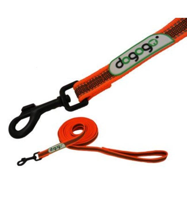 Dogogo Dogogo antislip riem met handvat in div. lengtes en breedtes, oranje