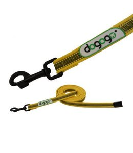 Dogogo Antislip leash without loop in diff. lengths and widths, yellow