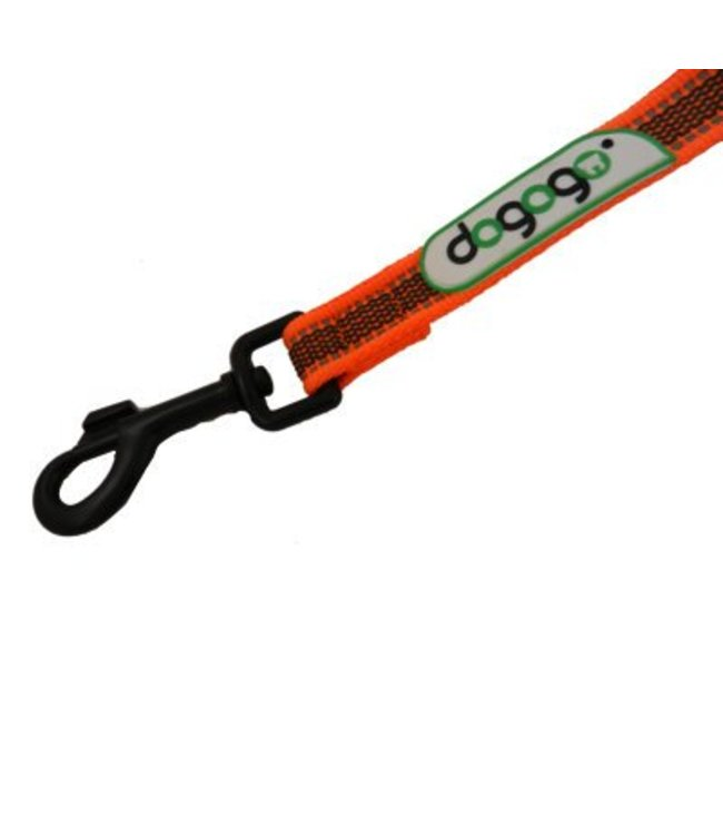 Dogogo Dogogo antislip leash without loop in diff. lengths and widths, orange