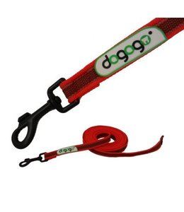 Dogogo Antislip leash without loop in diff. lengths and widths, red