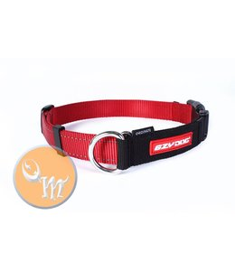 EzyDog Checkmate Collar, red