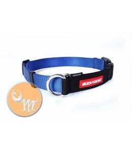 EzyDog Checkmate halsband, blauw