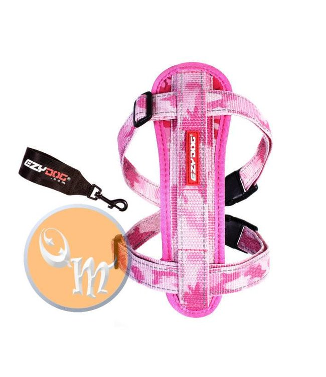 EzyDog EzyDog Chest Plate harness, pink camo