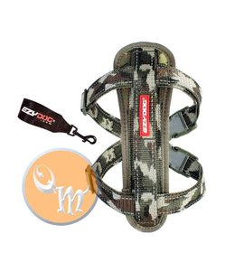 EzyDog Chest Plate Harness, green camo