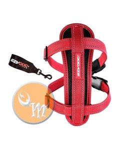 EzyDog Chest Plate harness, red