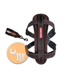 EzyDog Chest Plate harness, brown