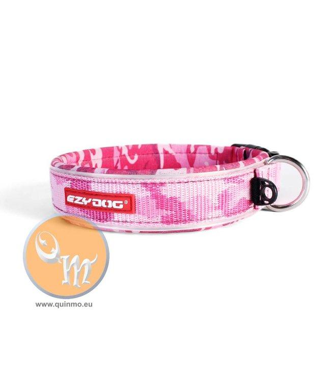 EzyDog classic neo halsband, pink camouflage