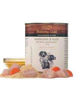 Hubertus Gold Hubertus Gold Kaninchen und Huhn mit Karotten und Hirse, 800 gr