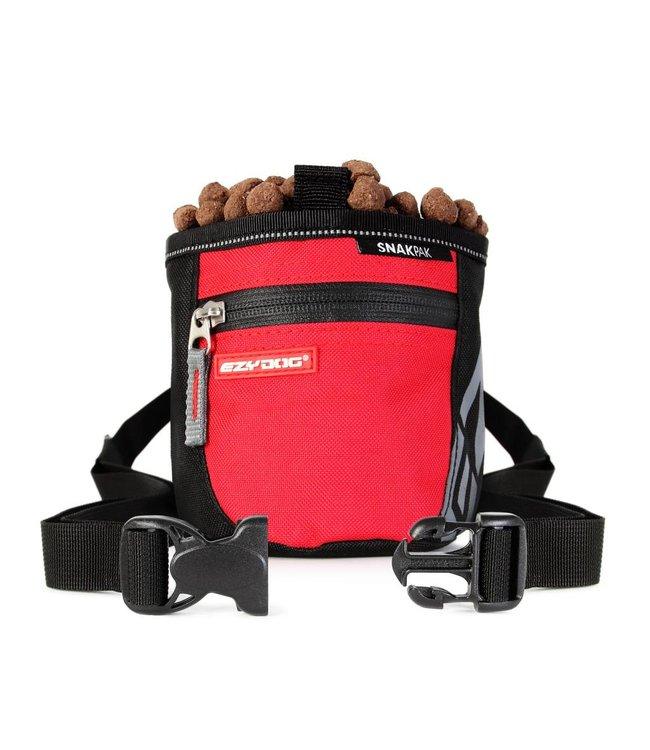 EzyDog SnakPak treat bag, red