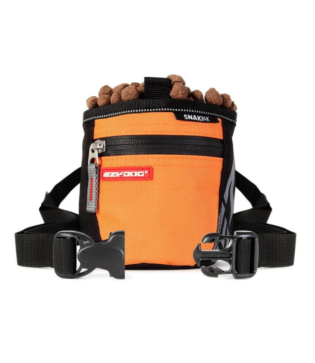 EzyDog SnakPak treat bag, orange