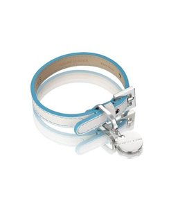 Hennessy and Sons halsband Polo, blauw/wit