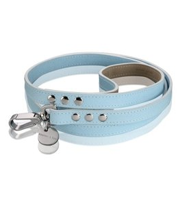 Hennessy and Sons Saffiano collar, Baby Blue