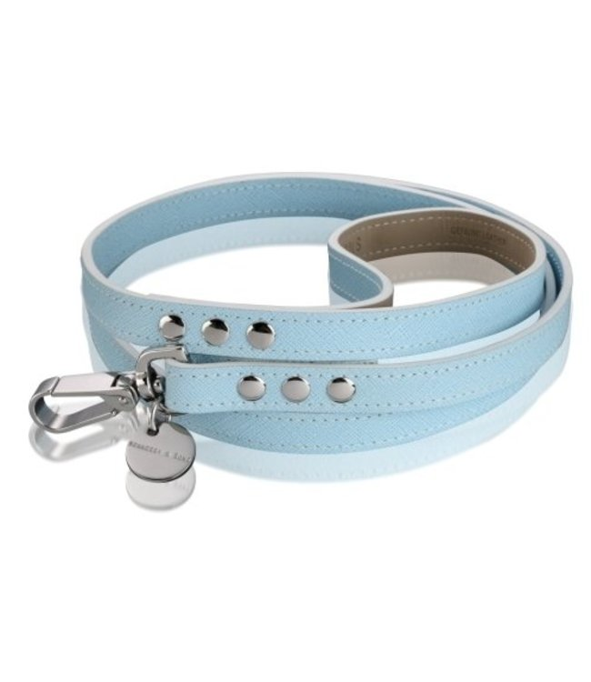 Hennessy and Sons Hennessy & Sons Saffiano collar, Baby Blue