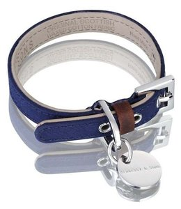 Hennessy and Sons Hennessy and Sons Scottish wax cotton collar, blue navy