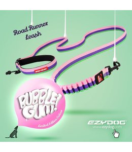 EzyDog road runner hands-free leash, bubble gum