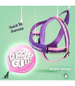 EzyDog QuickFit harness, bubble gum