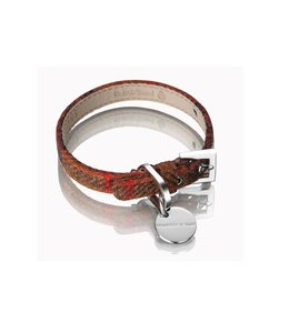 Hennessy and Sons Harris Tweed collar, rust brown
