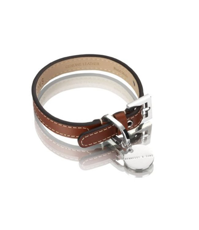 Hennessy and Sons Hennessy and Sons Royal halsband, rood bruin