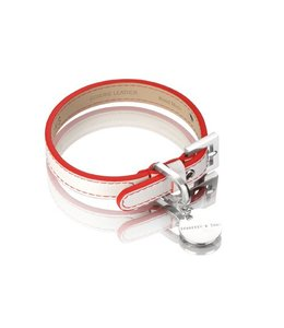 Hennessy and Sons collar Polo, white/red