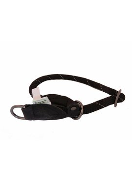Dogogo nylon slip collars, black