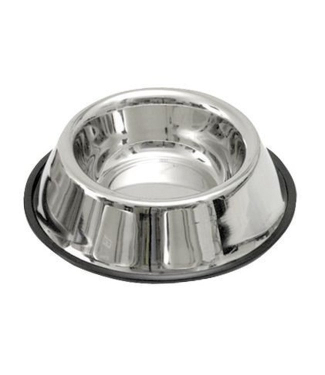 Dog Food Bowl stainless steel with non-slip ring, 450ml