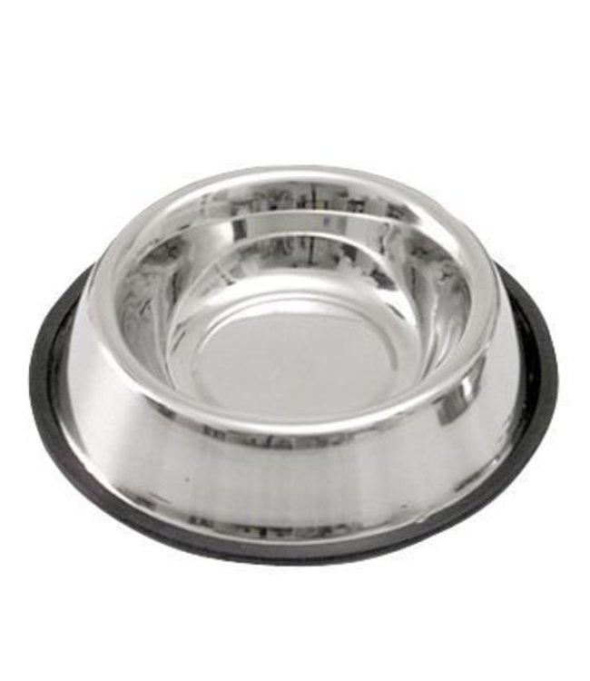Hondenvoerbak RVS met anti-slip ring, 700ml