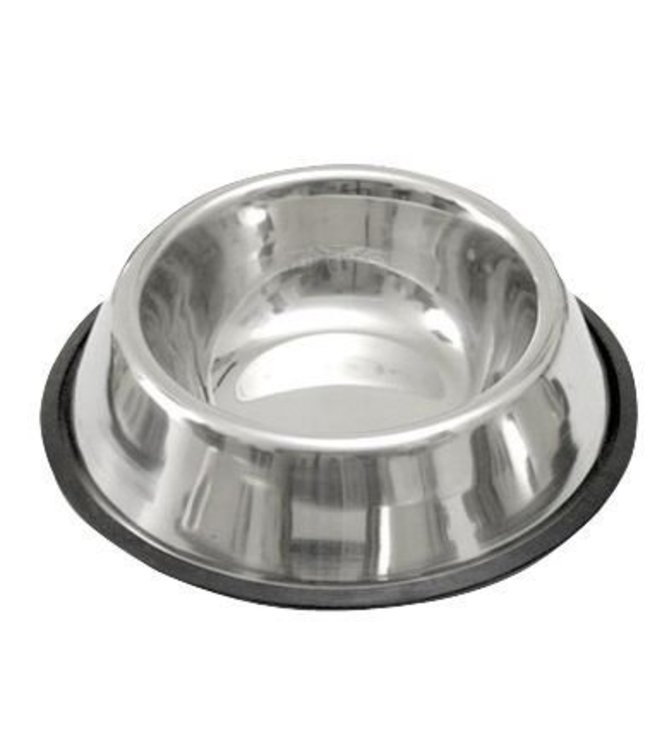 Dog Food Bowl stainless steel with non-slip ring, 900ml