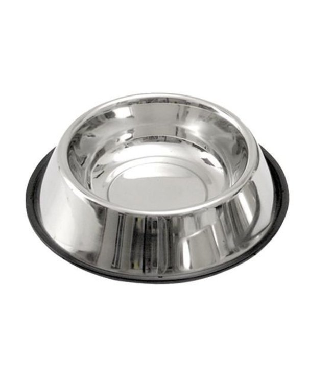 Dog Food Bowl stainless steel with non-slip ring, 1800ml