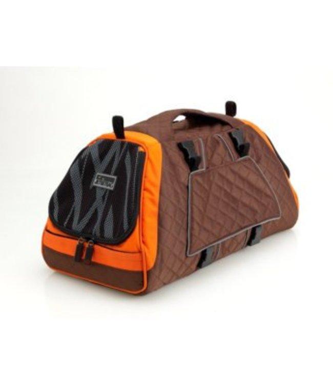 Petego Jet set Forma new frame bag, brown/orange