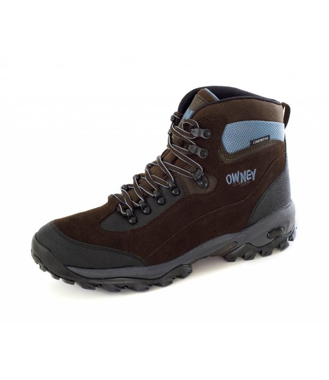 """Owney outdoor boots """"Marshland"""", brown-light blue"""