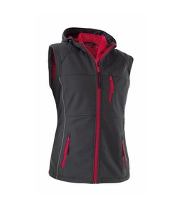 """Owney Owney Softshell-Vest Dames """"Nuuk"""" antracit-rood, XS"""