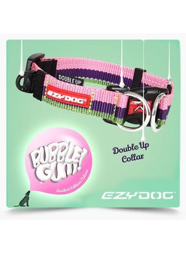 EzyDog Double Up Collar, bubble gum