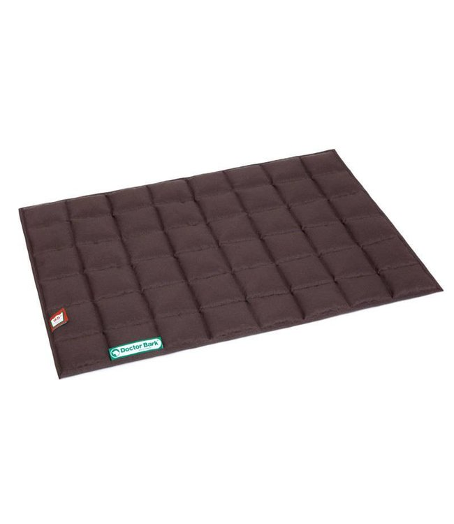 Doctor Bark Doctor Bark inlay blanket for pet bed, brown