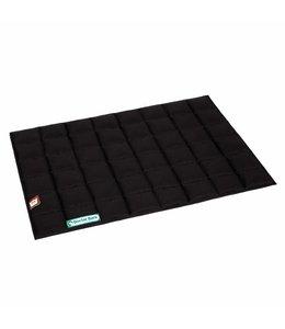 Doctor Bark inlay blanket for dog bed, black