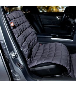 Doctor Bark blanket for the passenger seat, gray