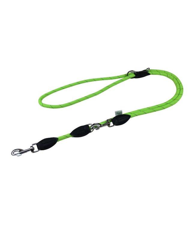 Dogogo Dogogo double dog leash in diff. lengths, green