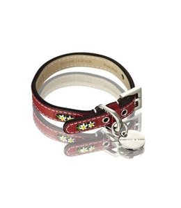 Hennessy and Sons Edelweiss collar, red