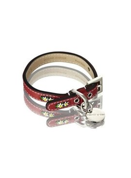 Hennessy and Sons Edelweiss halsband, rood