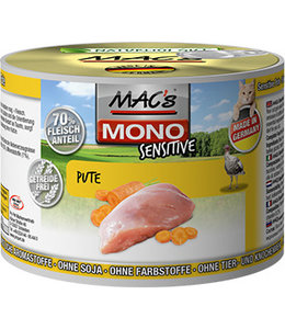 MAC's Cat Mono Sensitive Turkey - food allergy in cat