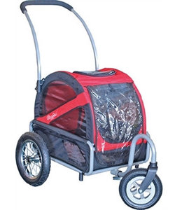 Doggy Ride Mini hondenbuggy, rood/zwart
