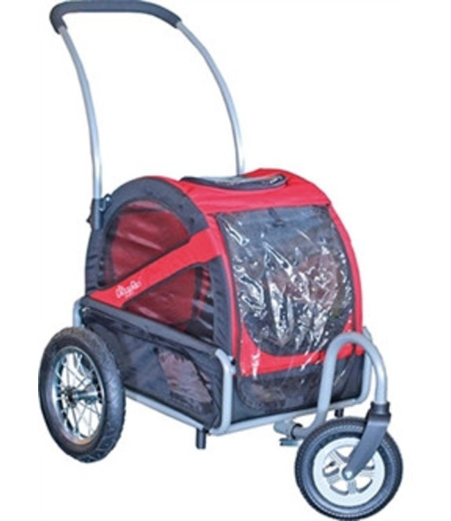 Doggy Ride Doggy Ride Buggy mini, rood/zwart