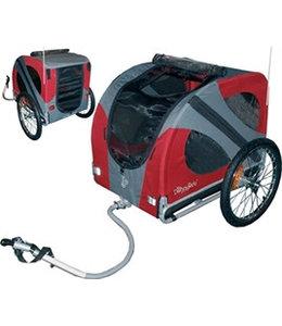 Doggy Ride Fietskar Original, rood/grijs