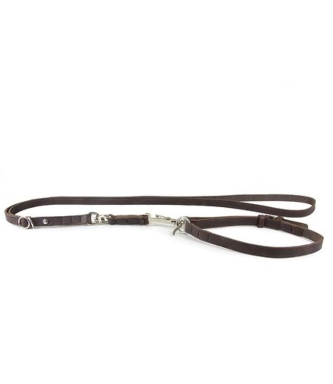 Das Lederband shoulder leash with hunting snap Graz, mocca