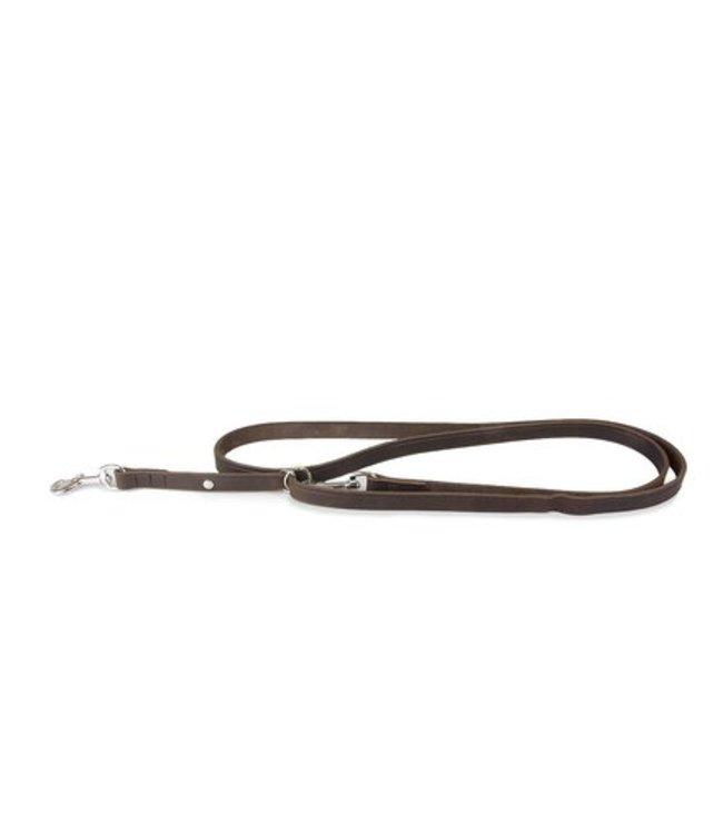 Das Lederband adjustable training leash Weinheim, mocca